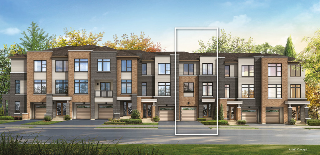 Esprit sundial homes thecamden housetype for Townhome layouts